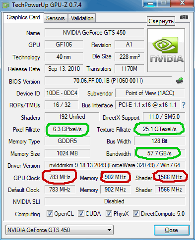 Разгон видеокарты nVidia GeForce