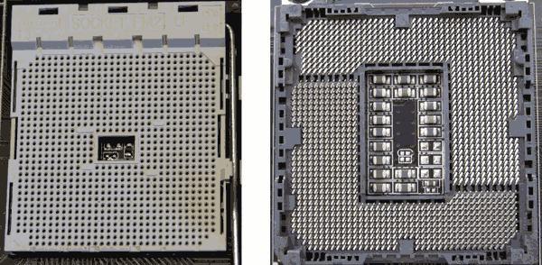 Сокеты для Intel и AMD