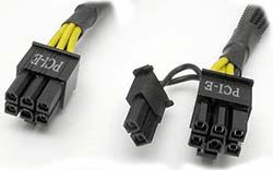 Разъем блока питания для питания видеокарты PCI-E 6 и 6+2 pin